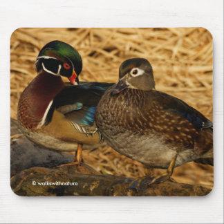 Wood Ducks on the Log Mouse Pad
