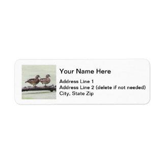 Wood Ducks Return Address Label