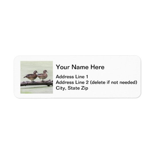 Wood Ducks Return Address Label