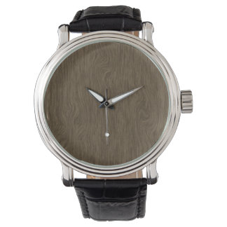 Wood effect background watch