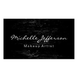 Wood Effect Makeup Artist Script Business Card