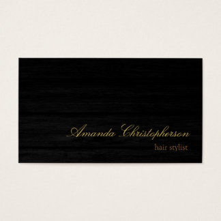 Wood Effect Script Hair Stylist Business Card