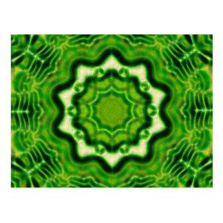 WOOD Element kaleido pattern Postcard