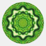 WOOD Element kaleido pattern Stickers