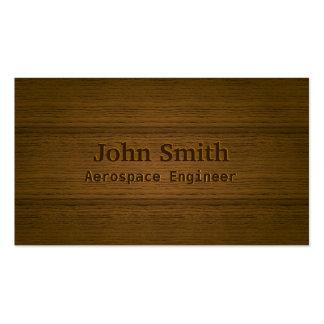 Wood Embossing Aerospace Engineer Business Card