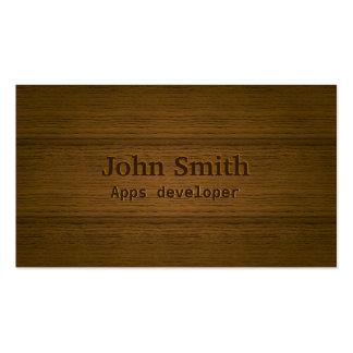 Wood Embossing Apps developer Business Card