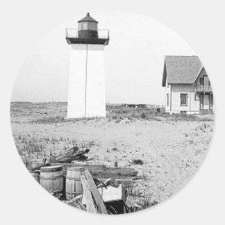 Wood End Lighthouse Round Sticker