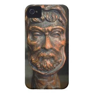 Wood Face Sculpture iPhone 4 Case