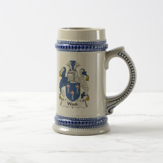 Wood Family Crest Beer Stein