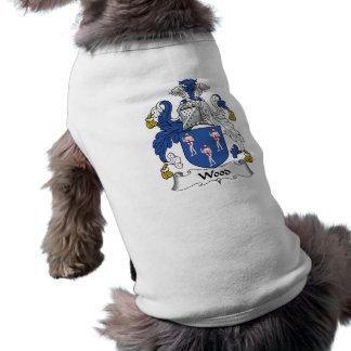 Wood Family Crest Sleeveless Dog Shirt