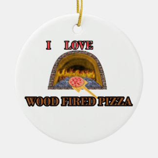 wood fired pizza christmas ornament