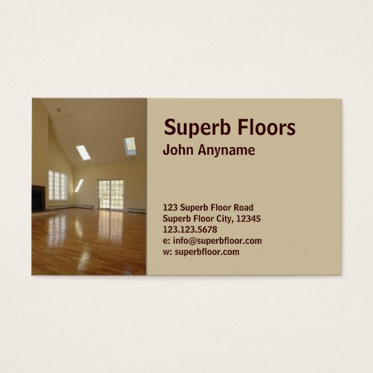 wood floor business card