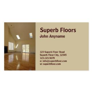 wood floor business cards