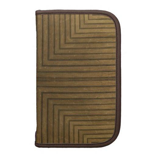 Wood Floor Kaleidoscope Pattern Folio Planner