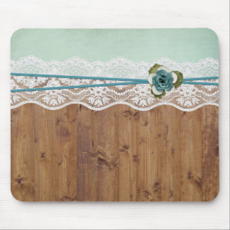 Wood Floral Lace Elegant Mouse Mat
