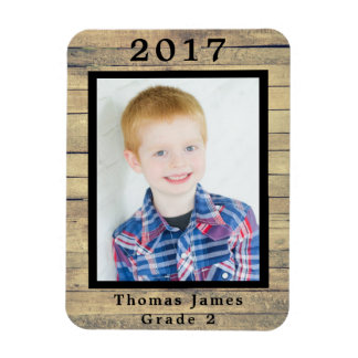 Wood Frame Class Picture Magnet
