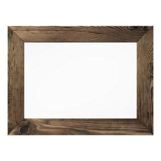 Wood Frame Isolated Inside Photo Art