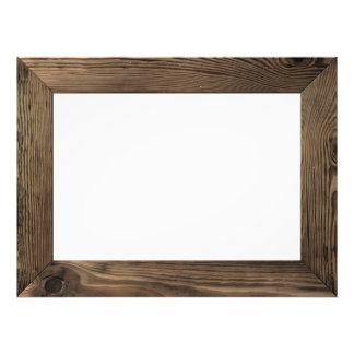 Wood Frame Isolated Inside Photographic Print