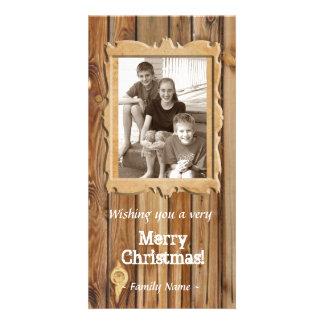 Wood Frame Photo Christmas Card Photo Card Template
