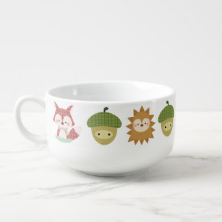 Wood Friends Mug Soup Bowl With Handle