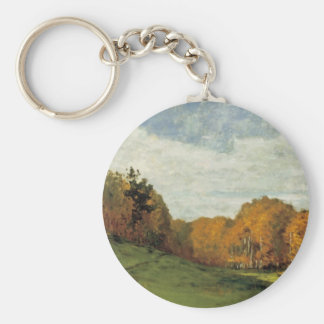 Wood Gatherers at the Edge of the Forest Basic Round Button Key Ring