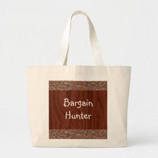 Wood Grain Abstract Large Tote Bag