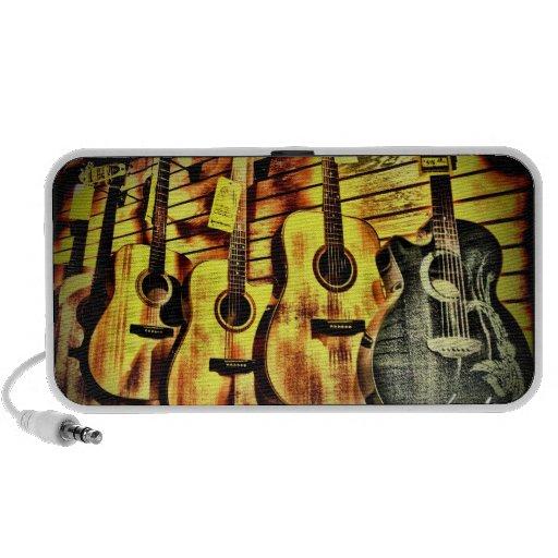 Wood Grain Acoustic Guitars Mp3 Speaker