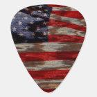 Wood grain American flag Plectrum