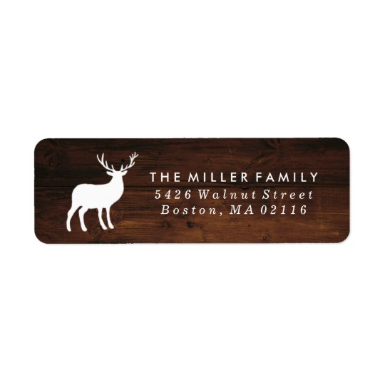 Wood Grain and White Stag | Holiday