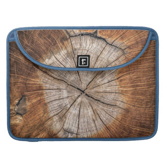 Wood Grain, blue Sleeve For MacBooks