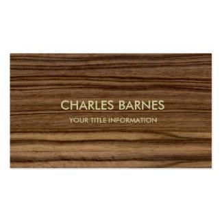 Wood Grain Business Card