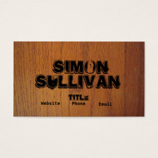Wood Grain Business Cards