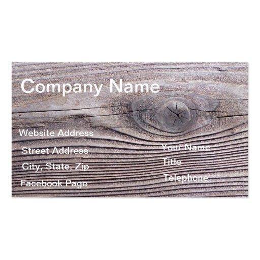 Wood Grain Business Profile Card template design Business Cards
