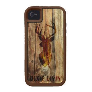 Wood-grain Deer Head by Dixie Livin' (VIBE ONLY) iPhone 4/4S Case