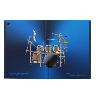 Wood Grain Drum Set iPad Air Case for Drummers