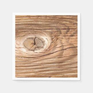 Wood Grain Knothole Disposable Napkins