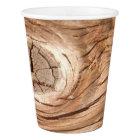 Wood Grain Knothole Paper Cup
