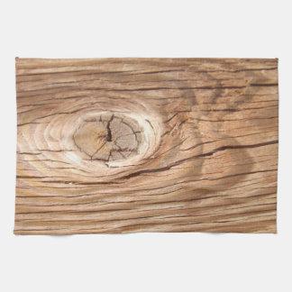 Wood Grain Knothole Tea Towel