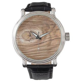 Wood Grain Knothole Watch