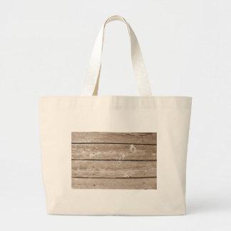 Wood Grain Large Tote Bag