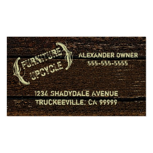 Wood Grain Look Business Cards