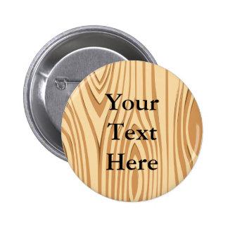 Wood Grain Pattern Button Pins