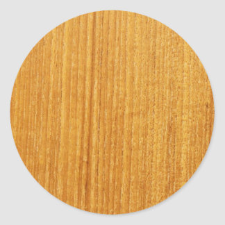 Wood Grain Pattern Classic Round Sticker