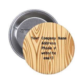 Wood Grain Pattern Company Information Button Button