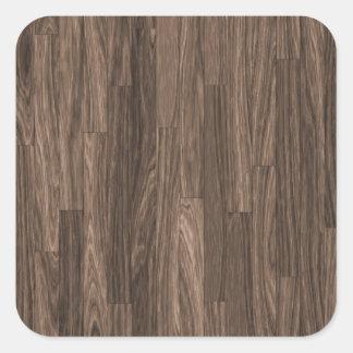 Wood Grain Print, Wood Grain Pattern, Wood Design Square Sticker