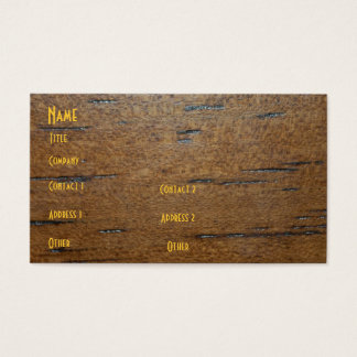 Wood Grain Profile Card
