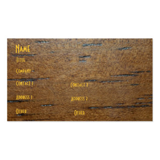 Wood Grain Profile Card Pack Of Standard Business Cards