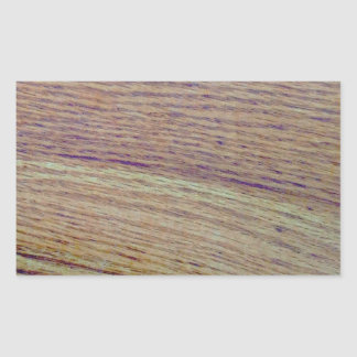 Wood Grain Rectangular Sticker