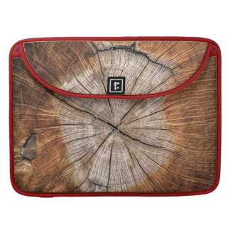 Wood Grain, red Sleeve For MacBook Pro