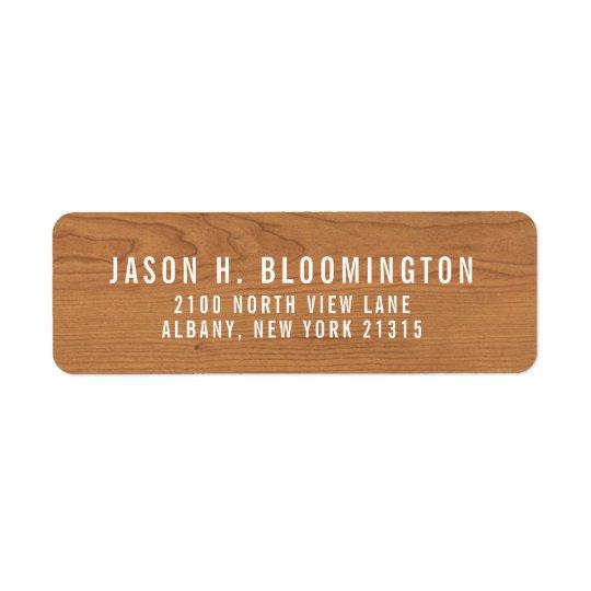 Wood Grain | Return Address